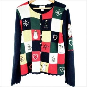 Christopher Banks Cardigan Sweater Christmas